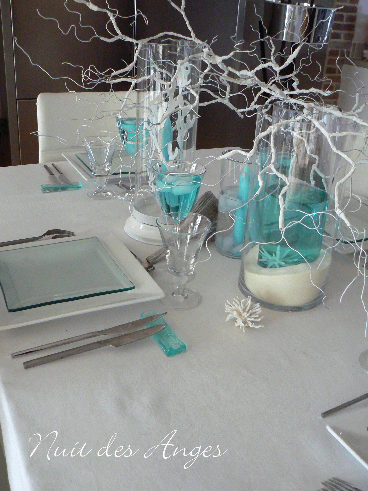 Nuit des anges décoratrice de mariage décoration de table turquoise ...