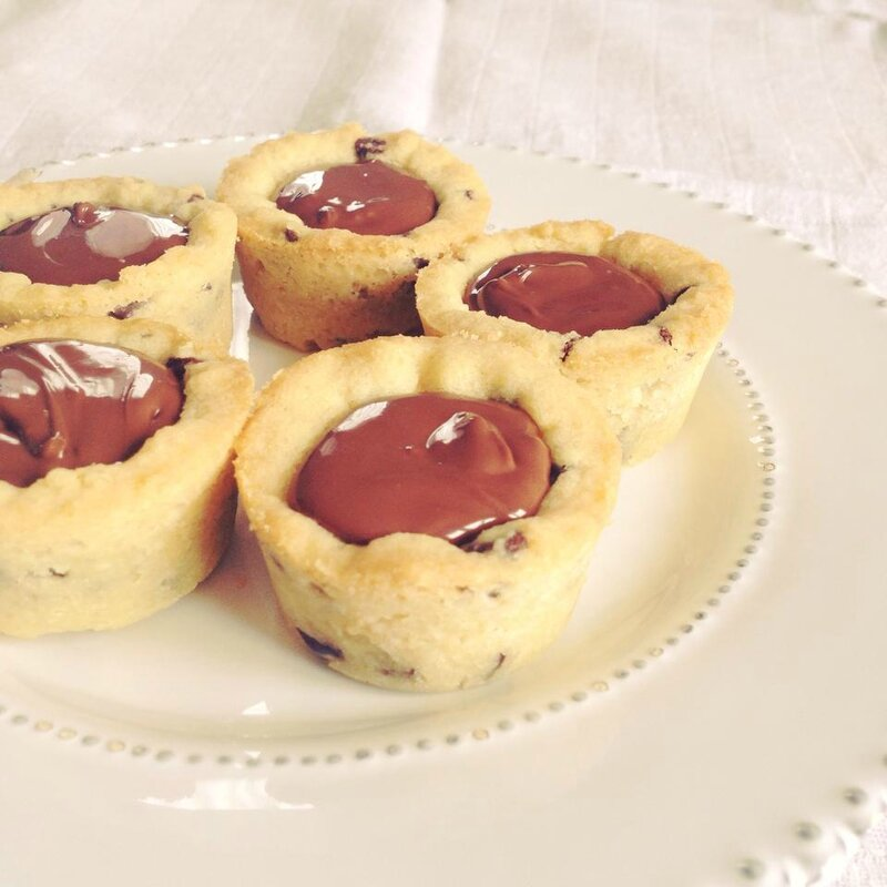 Cookie cups au Nutella