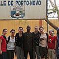 Visite de quelques française au temple du maître marabout hounsi