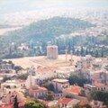Vue sur le Temple de Zeus depuis l'Acropole