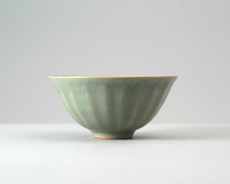 Greenware bowl with lotus petals, Longquan kilns, 13th century (1201 - 1300), Southern Song Dynasty-Yuan Dynasty