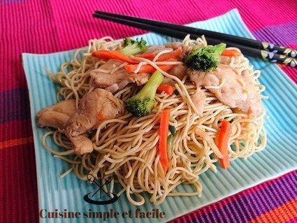 nouilles aux légumes poulet 04