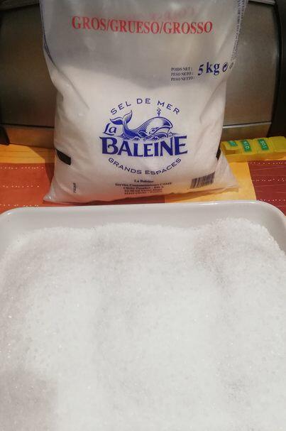 2 - Recouvrir gros sel
