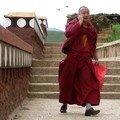 Le moine au téléphone portable...