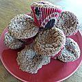 Cupcakes pralinés.