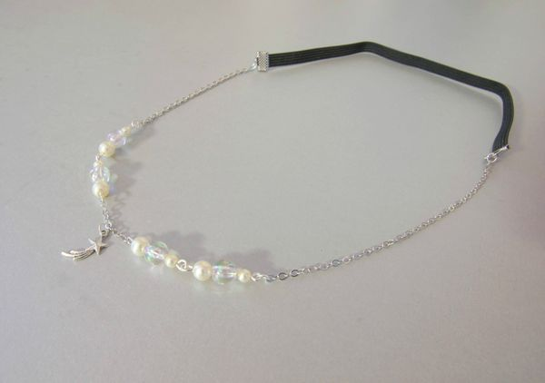 headband perles ivoires