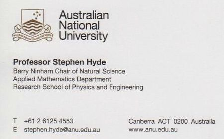 Visitors card - Stephen Kyle - Australia