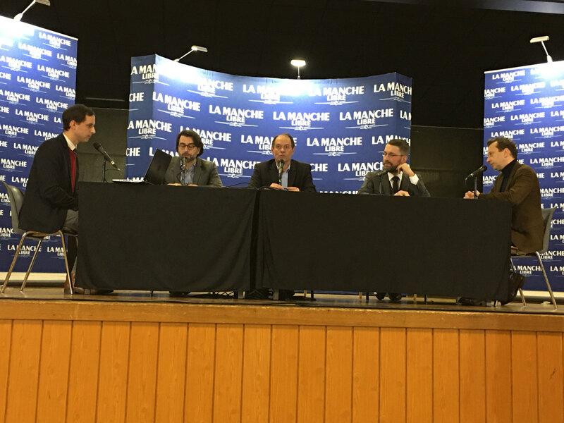 municipales_2020_Avranches_débat_La Manche Libre_David Nicolas_Guénhaël Huet_Antoine Delaunay_Nicolas Thomas_Edouard Frémy