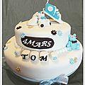 Gâteau de baptême tout doux ...pour un ptit bout de chou !