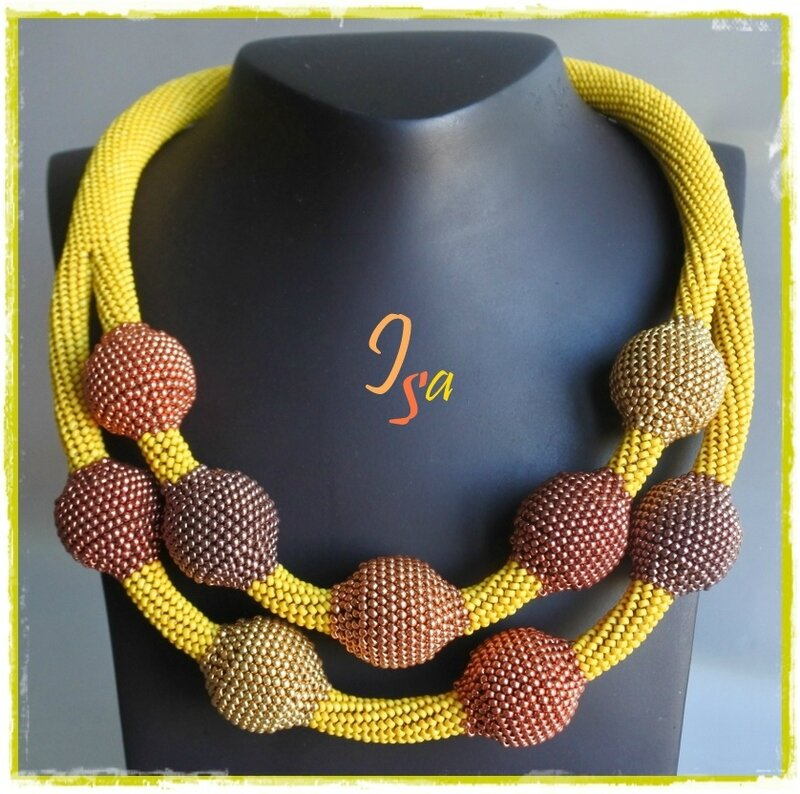 Collier MS 'Ecume 9' jaune