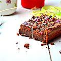 Très moelleux chocolat praliné noisettes sans beurre, nutella et smarties