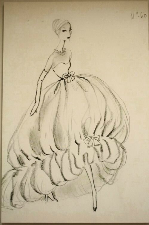 Sketch by Cristobal Balenciaga, 1958