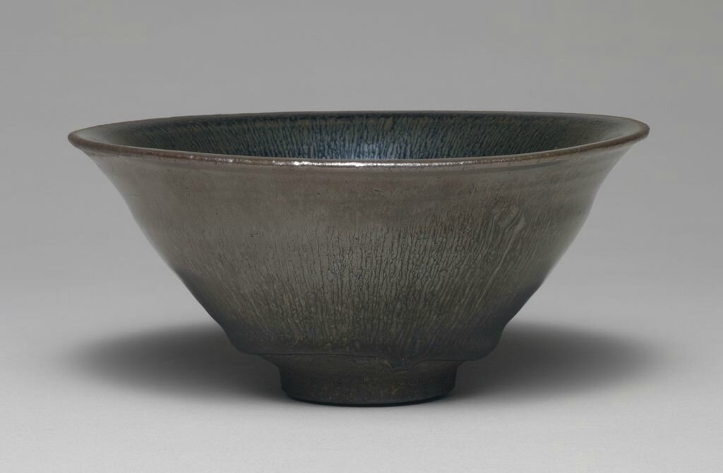 Large Tea Bowl with Flaring Lip and Silvery Brown Hare's-Fur Markings, Song dynasty, 12th-13th century