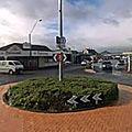 Rond-point à masterton (nouvelle-zélande)