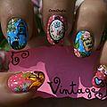 Nail art vintage participation concours chez perso- nail