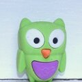 petit hibou peace and love - gomme puzzle