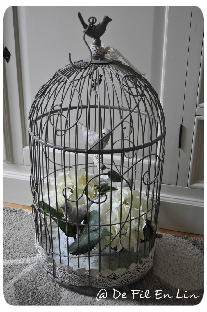 d co ma cage oiseaux dentelle et brocante. Black Bedroom Furniture Sets. Home Design Ideas