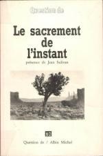 Jean Sulivan, Le sacrement de l'instant