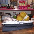 Blog, machine à coudre et aiguilles à tricoter ... en vacances !