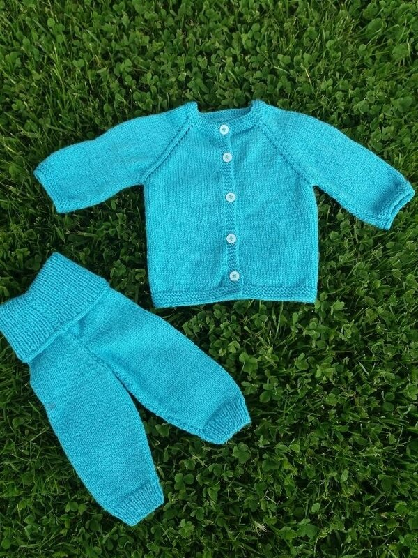Layette turquoise