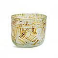 Rare gobelet en verre fatimide, syrie ou égypte, ixe siècle