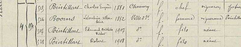 POINTILLART 1911 23 MARS