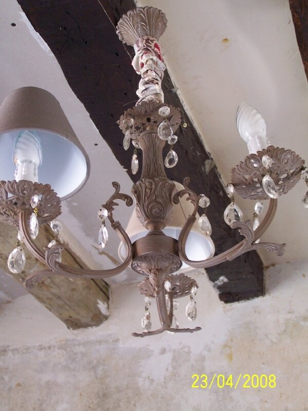 LUSTRE TAUPE + PAMPILLES