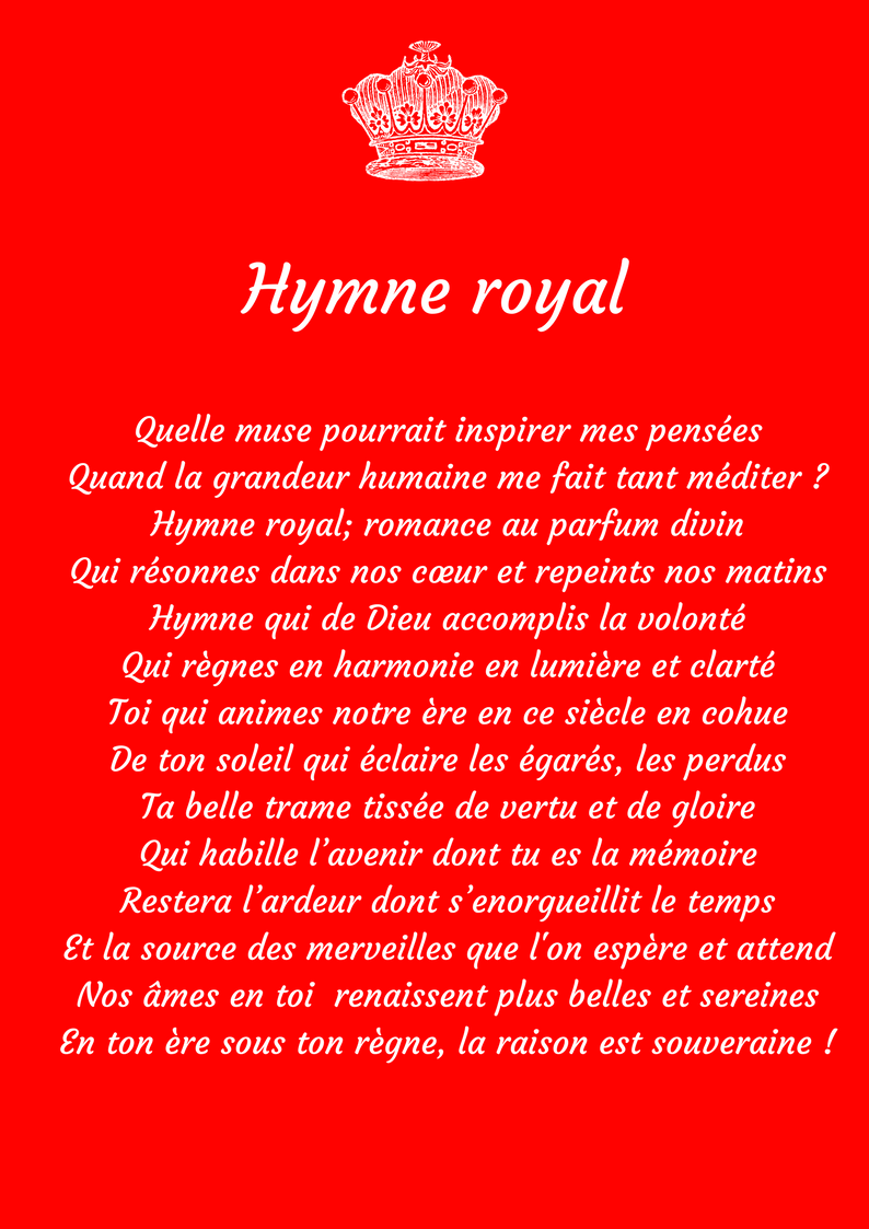 Hymne Royal ... !
