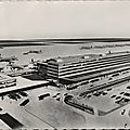 Aéroport de paris-orly, installations terminales futures ( 1961) carte postale