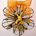 couronne de Pâques lapin jaune