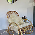Rocking chair rotin vintage