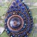 goutte murano bleue - vendu