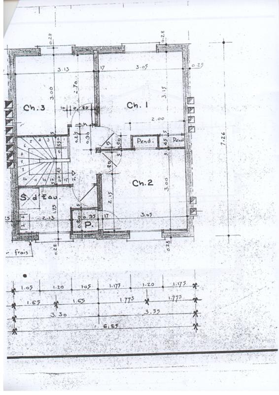 plan étage initial