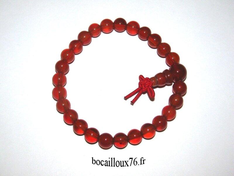 Bracelet CORNALINE 8 Perles 6