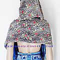woolen tube scarf flower print xtra long b