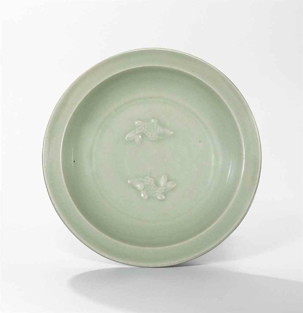 A Longquan celadon 'Twin Fish' dish, Southern Song Dynasty (1127-1279)