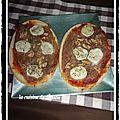 Bruschetta chèvre/noix/jambon