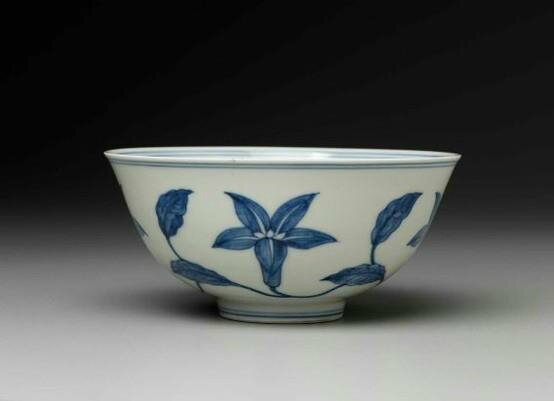 Bowl with blue-and-white decoration of flower scrolls Chinese, Ming dynasty, Da Ming Chenghua nian zhi mark period, 1465–87. Porcelain, 6.9 x 14.8 cm (2 11/16 x 5 13/16 in.). Bequest of Charles Bain Hoyt—Charles Bain Hoyt Collection. 50.2113. © 2012 Museum