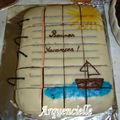 Gâteau cahier à spirales coupé