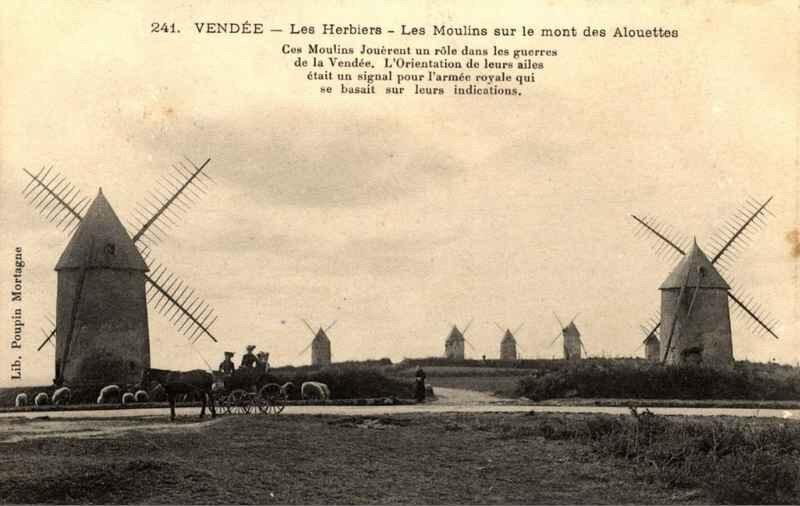 herbiers Les Moulins du mont des alouettes, un des symboles de la Guerre de Vendée