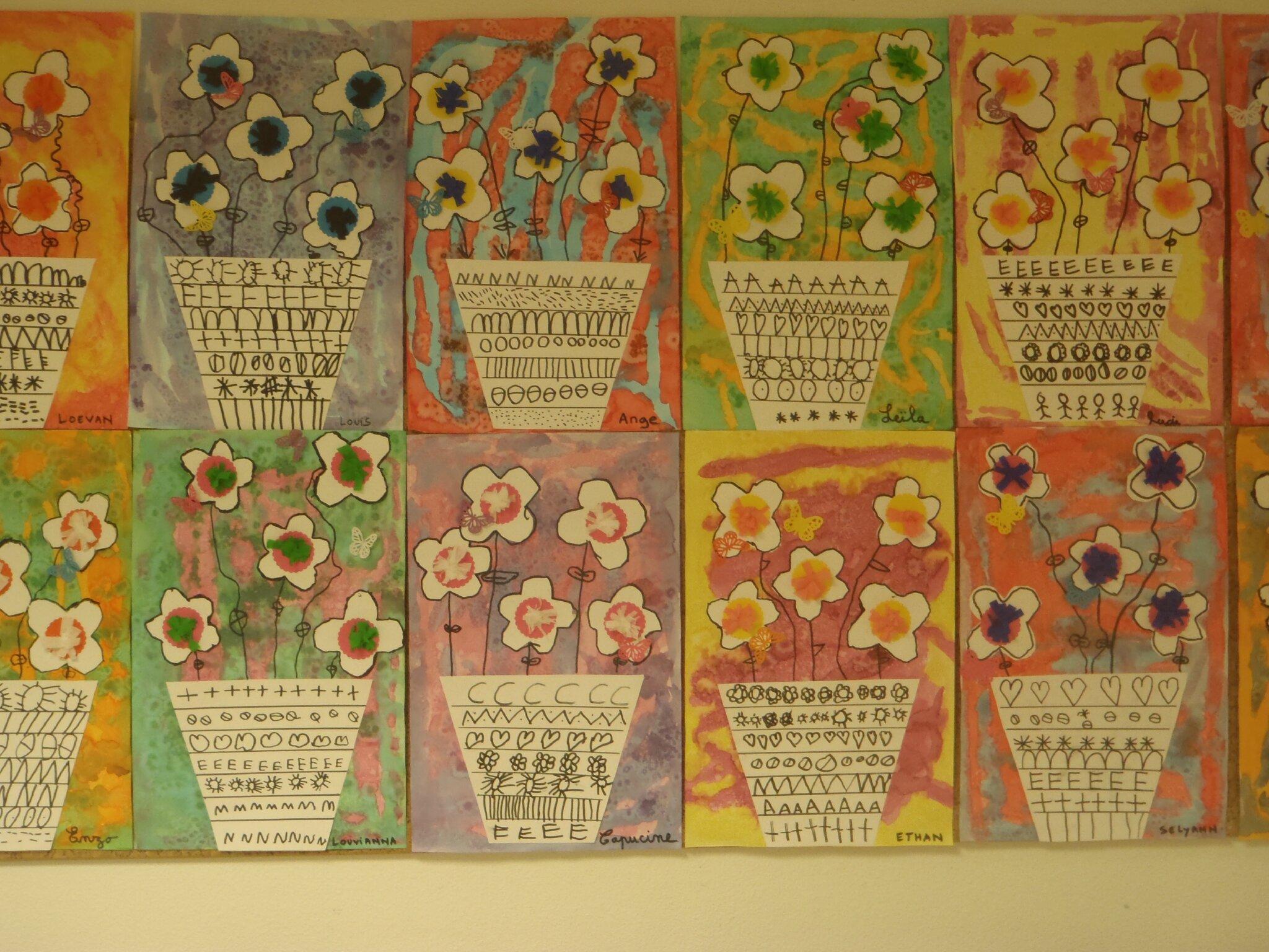 Pots fleuris