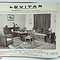 Livre collection ... catalogue levitan (1933) * art déco