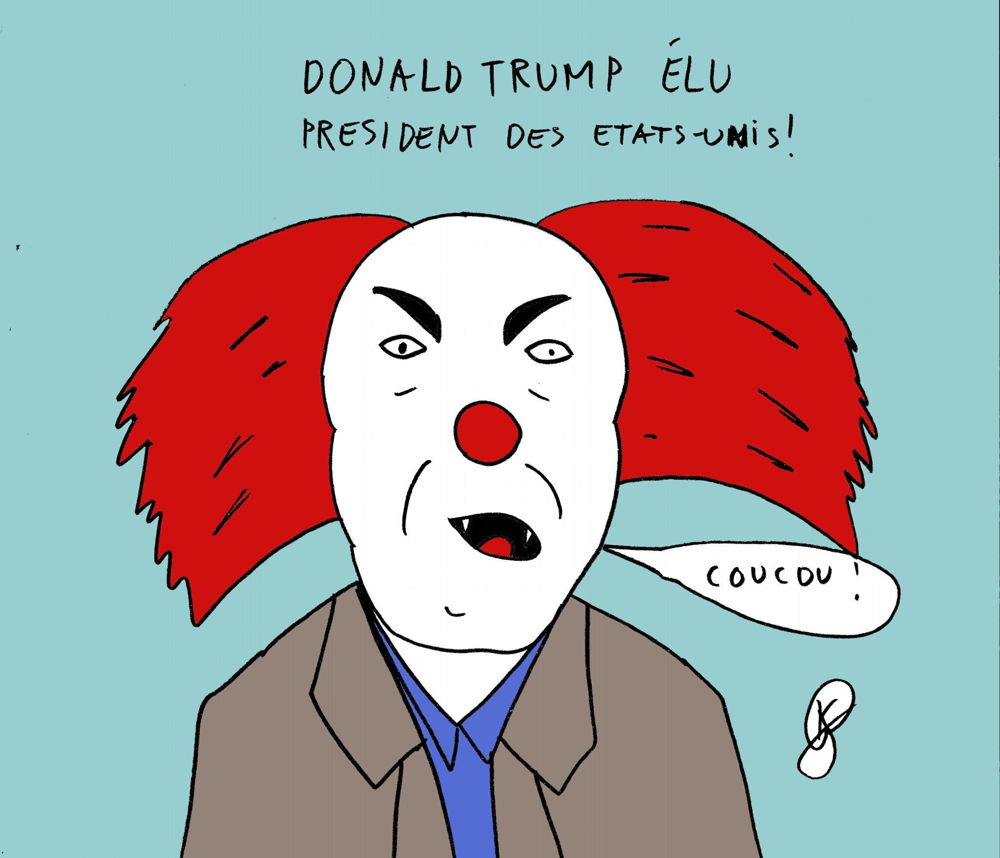 trump-clown tueur
