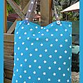 tote bag étoile turquoise