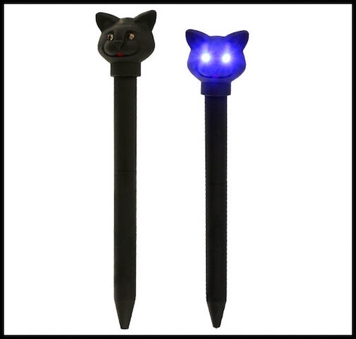 kikkerland stylo chat yeux led