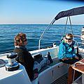 Dans le Canale di Curzola, au sud de Punta Maestro (pointe ouest de l'ilôt Nostan) 270115