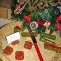 pour la table de Noël 2007 - portes couteaux et portes nom