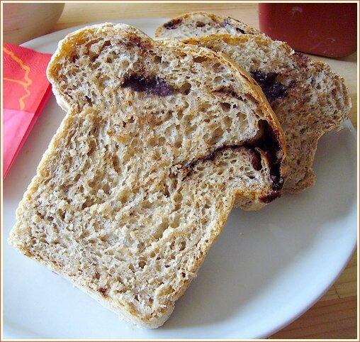 pain sans pétrissage chocolat cannelle