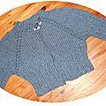 Catégorie 11 / Gilet raglan au tricot