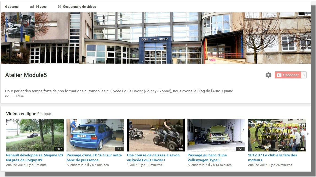 Une chaîne Youtube pour les vidéos de nos formations automobiles !